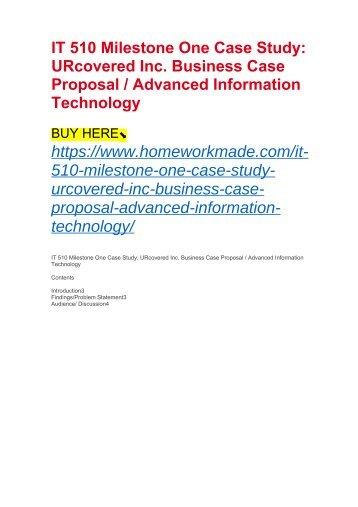 It  Advanced Info Systems Design Milestone