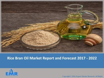 Rice Bran Oil Market 2017 To 2022 – Production, Market Analysis, Growth, Trends And Forecasts
