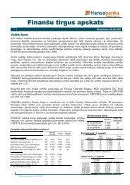 Finanšu tirgus apskats - Swedbank