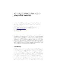 Web Intelligence: Web-Based BISC Decision Support System ...