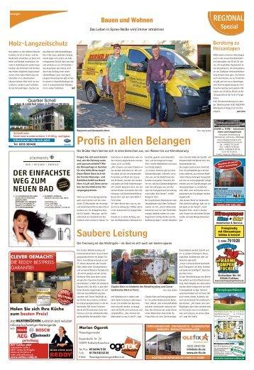 Regional Spezial - Bauen und Wohnen, Ausgabe Guben