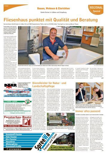 Regional Spezial - Bauen und Wohnen, Ausgabe Lübben