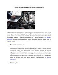 Top 5 Car Repairs Better Left to the Professionals