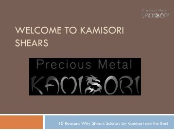 10 Reasons Why Shears Scissors by Kamisori are the Best