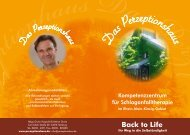 Back to Life - Perzeptionshaus