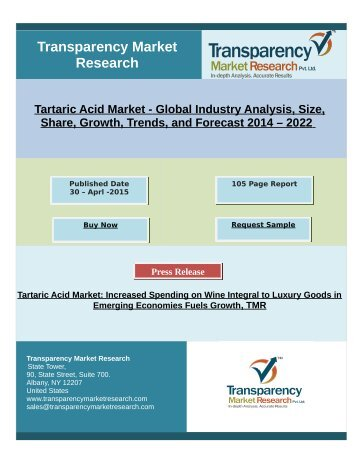 Tartaric Acid Market Research By 2022