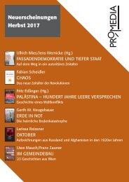 Vorschau Promedia Verlag Herbst 2017