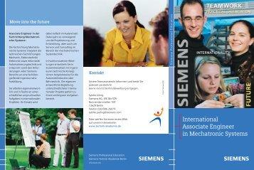 International Associate Engineer in Mechatronic Systems