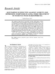 Research Article QUETIAPINE IS EFFECTIVE AGAINST ANXIETY ...