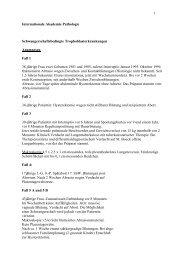 1 Internationale Akademie Pathologie Schwangerschaftsbedingte ...