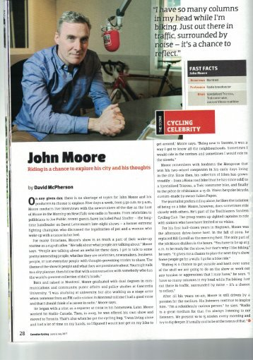 Canadian Cycling John Moore