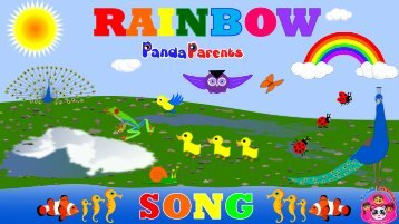 Learn Colors with Panda Kids Songs -- Let's Sing a Rainbow Song