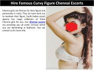 Hire Famous Curvy Figure Chennai Escorts