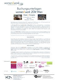 women&work 2014 Wien Messe & Kongress - Agentur ohne Namen ...