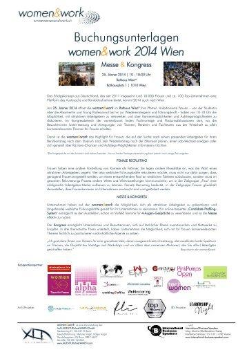 women&work 2014 Wien Messe & Kongress - Agentur ohne Namen ...