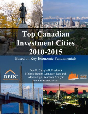 Top Canadian Investment Cities 2010-2015 - Don R. Campbell's Blog