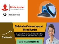Bitdefender Antivirus Customer Service Number