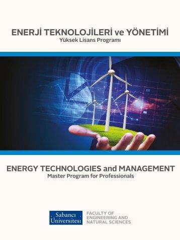 Sabancı Üniversitesi Enerji Teknolojileri ve Yönetimi Yüksek Lisans Programı