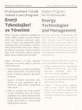 Sabancı Üniversitesi Enerji Teknolojileri ve Yönetimi Yüksek Lisans Programı - Page 3