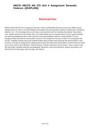 HN370 HN370 HN 370 Unit 4 Assignment Domestic Violence -{{KAPLAN}}