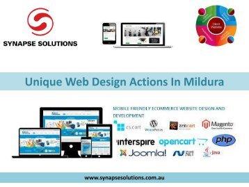 Unique Web Design Actions In Mildura