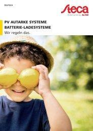 Steca Elektronik Katalog PV Off Grid (DE)