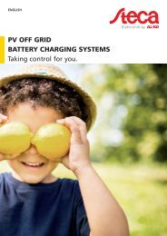 Steca Elektronik Catalog PV Off Grid (EN)