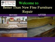 Furniture Restoration Scottsdale | Better Than New