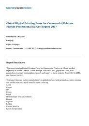 Global Digital Printing Press for Commercial Printers Market Professional Survey Report 2017