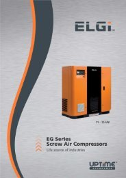 Global Series Electric Powered Screw Air Compressors