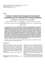 Customer relationship management concept and competitiveness of ...