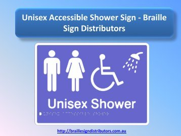 Unisex Accessible Shower Sign