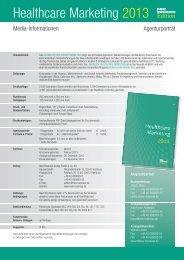 Jahrbuch Healthcare Marketing 2013 Agenturporträts