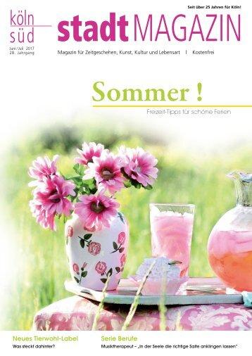 stadtMAGAZIN köln-süd | Ausg.  Juni-Juli 2017