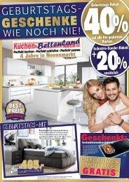 Küchen- und Bettenland AUER in 95339 Neuenmarkt: Geburtstags-Rabatte wie noch nie!