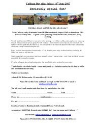 Cullinan Day ride 16 june