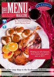 Plassey Food The Menu Magazine Nov/Dec 2016