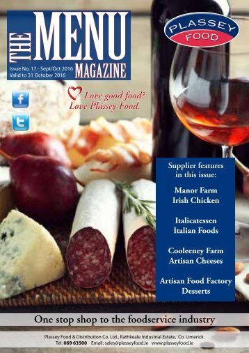 Plassey Food The Menu Magazine Sept/Oct 2016