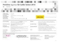Preisliste Agentur für Gelbe Seiten 2013 - Schlütersche ...