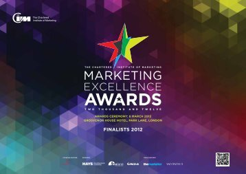 finalists 2012 - CIM Marketing Excellence Awards