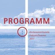 Programm Kircheneintrittsstelle 2017