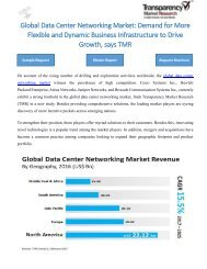 Data Center Networking Market- Demand for More Flexible and Dynamic Business Infrastructure to Drive Growth, says TMR