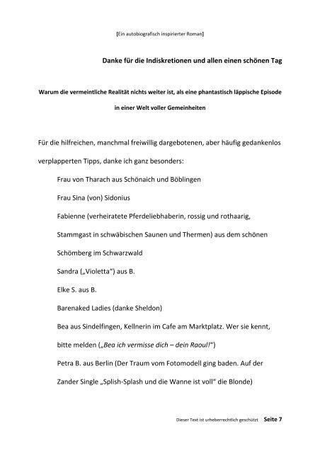 TREUFLEISCH - Erstes Buch