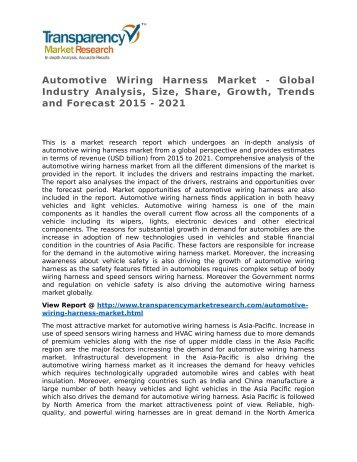 Automotive Wiring Harness Market - Global Industry Analysis, Size, Share, Growth, Trends and Forecast 2015 - 2021