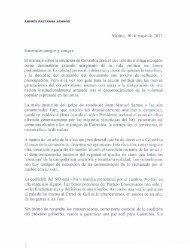 Carta de respuesta del Expresidente Andrés Pastrana a sus amigos y amigas conservadores