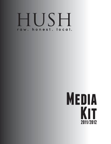 Download HUSH Magazine Media Kit in PDF format