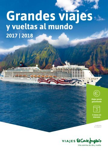 Catálogo El Corte Inglés, Grandes viajes y vueltas al mundo 2017