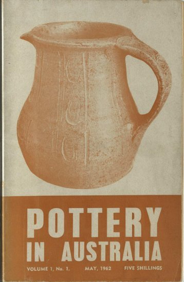 Pottery In Australia Vol 1 No 1 May 1962