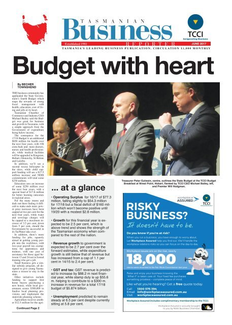 Tasmanian Business Reporter June 2017