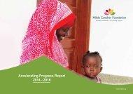 Milele Zanzibar Foundation Accelerating Progress Report, 2014 – 2016